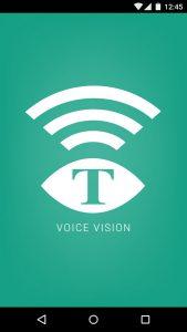 Skjermbilde voicevision app