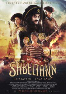 Filmplakat Kaptein Sabeltann og skatten i Lam Rama.