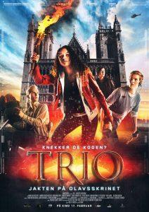 Filmplakat Trio - Jakten på Olavsskrinet